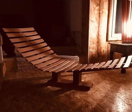 J.F. Tensa - creation fauteuil bois